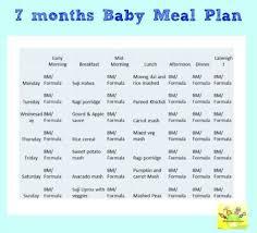 7 Months Old Baby Food Chart Bedowntowndaytona Com