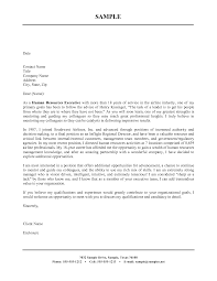 Adept Experience As Human Resources Executive Blank Cover Letter