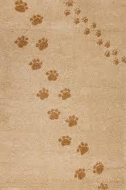 children s rug paw prints beige
