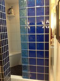 Bathroom Partition Walls Colored Glass Block Shower Partition Walls In A Condo Remodeling