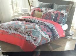 studio bedding sets max studio king comforter set w pillows aqua green red pink gray studio comforters sets