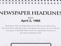 The Year Calendar Daily Mirror Newspaper Calendar Historic Newspapers