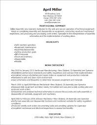 Resume Templates: Assembly Line Operator Resume