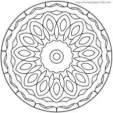 Mandala Coloring Pages Easy Mandala Coloring Pages Mandala Coloring