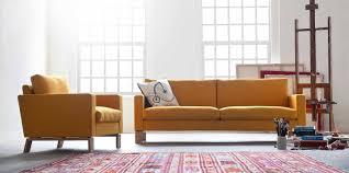 Orange Sofa Living Room White Fabric Sectional Carpet Box Goose Feather Pillow Block Board