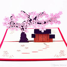 Online Birthday Cards For Kids Romantic Cherry Blossoms Birthday Party Decorations Kids Greeting