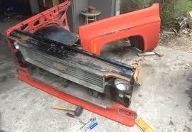 Chevy K10 truck restoration Phase 3: Front Clip Swap | Dan·nix