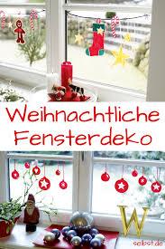 Advent Fensterdeko Basteln Bastelideen Diy Natale