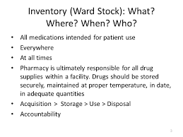 Inpatient Medication Inventory Management: Ward Stock - ppt video ...