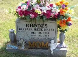 RHODES, BARBARA IRENE - Benton County, Arkansas | BARBARA IRENE RHODES -  Arkansas Gravestone Photos