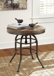 rustic round end table. Rustic Accents - Round End Table T