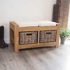 rustic storage bench. Contemporary Storage Rustic Wooden Storage Bench  Reclaimed Hallway Bedroom Wicker  Drawers And A
