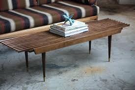 mid century coffee tables appealing mid century modern expanding slat bench coffee table by mid century