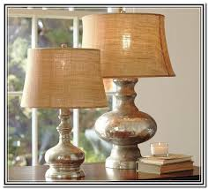 girona mercury glass table lamp with pretty shade for home lighting ideas