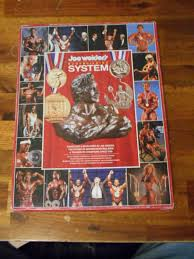 Joe Weider S Bodybuilding System Book And Charts Original Joe Weider Bodybuilding System Muscle Book With 9