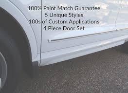 body side door molding set pre painted