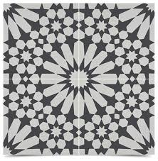 Black And White Pattern Tile Stunning 448x448 Windcroft Handmade Tiles Set Of 48 Black And White