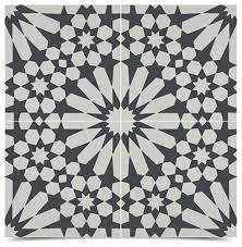 Black And White Pattern Tile Stunning 448x448 Windcroft Handmade Tiles Set Of 48 Black And White