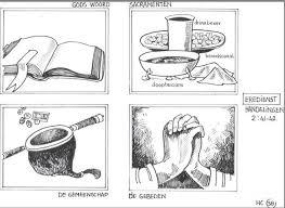 Attributen In De Eredienst De Bijbel Heilig Avondmaal Met Brood En