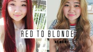 How To Dye Your Hair From Red Brown To Blonde