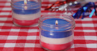 diy independence day citronella candles