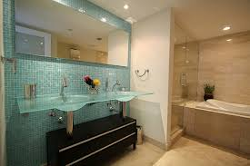 bathrooms with glass tiles. Accent Tile Wall In Bathroom Modern-bathroom Bathrooms With Glass Tiles Z
