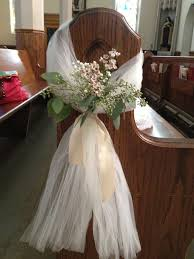 pictures gallery of wedding pew bows church decorations