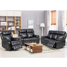 com paylesshere 3pc motion sofa loveseat recliner set living room bonded leather furniture kitchen dining