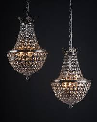 pair of antique crystal bag chandeliers by faraday antique lighting