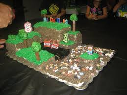 minecraft cake recipe. Beautiful Cake Picture Of Minecraft Birthday Cake Intended Recipe T