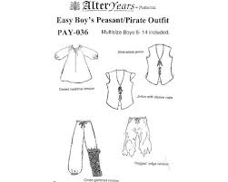 Pants Patterns Best Patterns Of Time Easy Boy's PeasantPirate Pants Sewing Pattern By