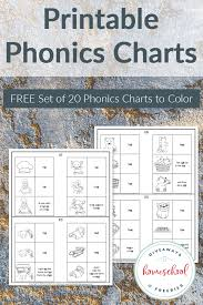 Free Phonics Charts To Print Color Homeschool Giveaways