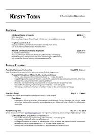 Copy Editor Resume Resume For Study