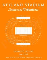 Tennessee Volunteers Football Seating Chart Neyland Stadium Seating Chart Tennessee Volunteers Neyland Stadium Print Tennessee Vols Tennessee Sign Tennessee Gifts Vintage Art