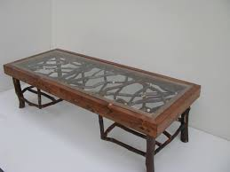 Furniture, Brown Rectangle Antique Unique Shaped Legs Glass And Wood Coffee  Tables Designs Ideas For ...
