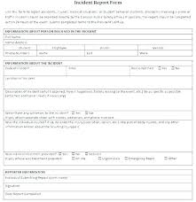 Information Technology Incident Report Template It Incident