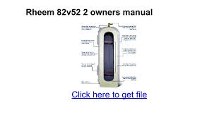 rheem 82v52 2. rheem 82v52 2 r