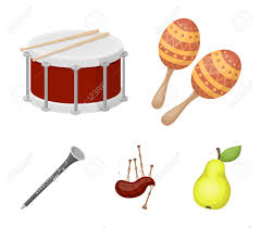 Traditional irish and scottish music is generally played using the following musical instruments: Maracas Drum Scottish Bagpipes Clarinet Musical Instruments Royalty Free Cliparts Vectors And Stock Illustration Image 94889431