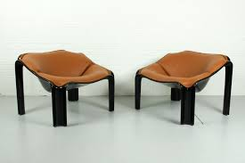 mid century f300 groovy lounge chairs by pierre paulin for artifort 1960s photo 1