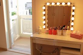 dressing table with mirror and lights charming makeup table mirror