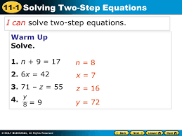i can solve two step equations