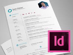 InDesign Template - Free Hexagon Vita/Resume/CV
