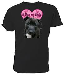 Staffy Colours Chart Staffordshire Bull Terrier I Love My Staffy T Shirt Choice Of Size Colours Men Summer Style Mens High Quality Tees Humorous T Shirts T Shirts