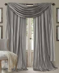 elrene athena rod pocket 52 x 95 pair of curtain panels with scarf valance set of 3