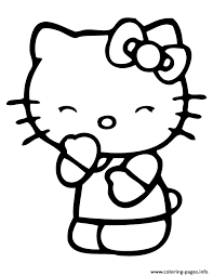 Small Picture smiling hello kitty with eyes closed Coloring pages Printable