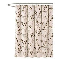 brown fabric shower curtains. Meridian Printed Cotton Blend 72 In. W X L Soft Fabric Shower Brown Curtains