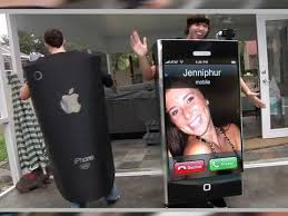 iphone costume. iphone costume *receives call* iphone