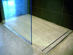 curbless shower drain wers wer drain linear bathroom modern with concrete metal soap dishes pan on slab wer pan base on concrete slab schluter linear drain