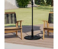 universal black cement patio umbrella
