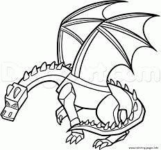 Small Picture Minecraft Dragon Coloring Pages Printable